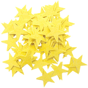 Stiff Yellow Felt Stars (1.5 to 3inch)