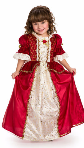 Little Adventure Red Winter Beauty Princess Dress