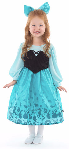 Little Adventures Mermaid Day Dress with Bow