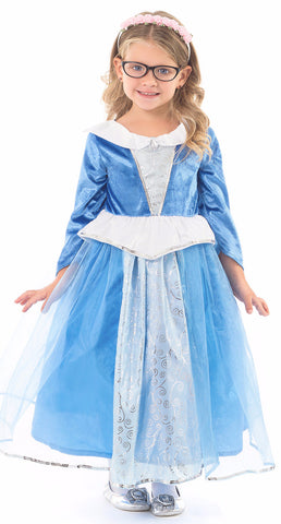 Little Adventures Deluxe Blue Sleeping Beauty Princess Dress