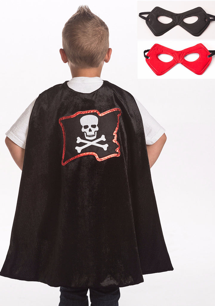 Little Adventures Pirate Cape & Mask Set