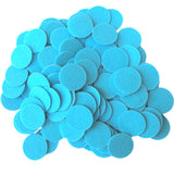 Light Blue Felt Circle Stickers (1 inch)