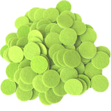 Light Green Felt Circle Stickers (1 inch)