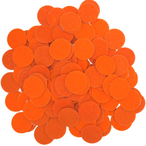 Orange Felt Circle Stickers (1 inch)