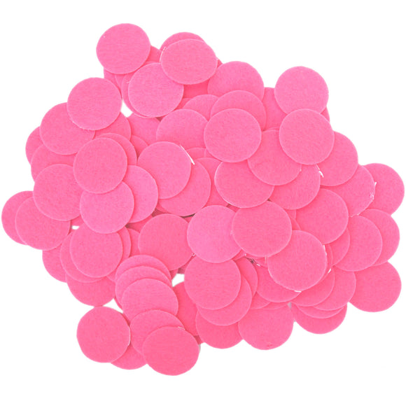 Pink Felt Circle Stickers (1 inch)
