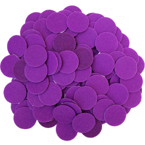 Purple Felt Circle Stickers (1 inch)