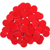 Red Felt Circle Stickers (1 to 4 inch)