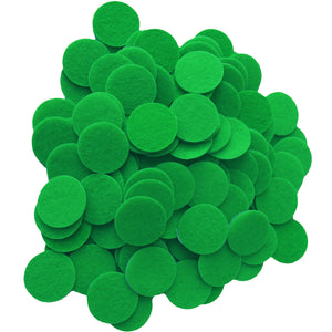 Green Felt Circle Stickers (1 inch)