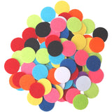 Mixed Color Assortment Felt Circle Stickers (1 inch)