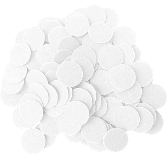 White Felt Circle Stickers (1 to 4 inch)