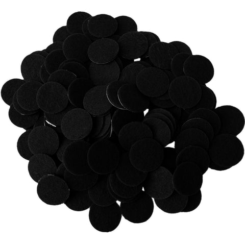Black Felt Circle Stickers (1 to 4 inch)