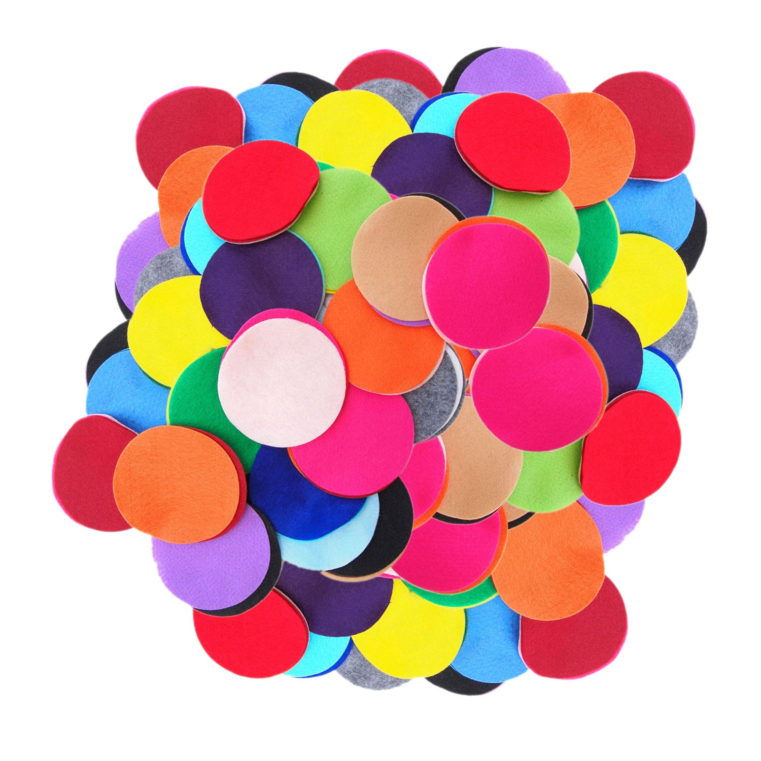 Playfully Ever After 2 Inch Mixed Color Assortment 44pc Stiff Felt Circles
