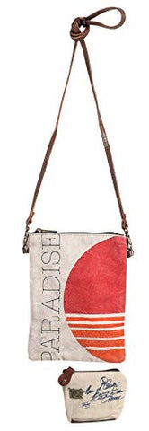 Mona B Upcycled Canvas Paradise Crossbody Bag ML-1002 with Coin Purse