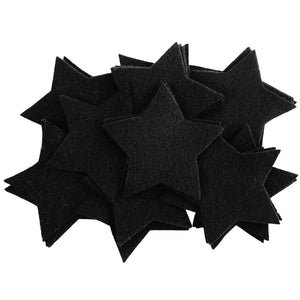Craft Felt Black 3 Inch Stars - 45pc
