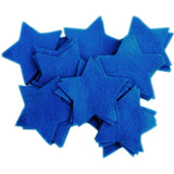 Craft Felt Blue 3 Inch Stars - 45pc
