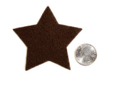 Craft Felt Brown 3 Inch Stars - 45pc