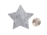 Craft Felt Charcoal 3 Inch Stars - 45pc