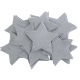 Craft Felt Gray 3 Inch Stars - 45pc