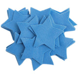 Craft Felt Militia Blue 3 Inch Stars - 45pc