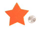 Craft Felt Orange 3 Inch Stars - 45pc