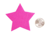Craft Felt Pink 3 Inch Stars - 45pc