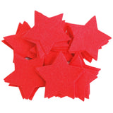 Craft Felt Red 3 Inch Stars - 45pc