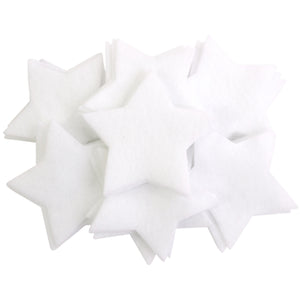 Craft Felt White 3 Inch Stars - 45pc
