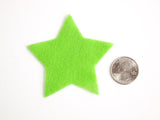 Craft Felt Light Green 3 Inch Stars - 45pc