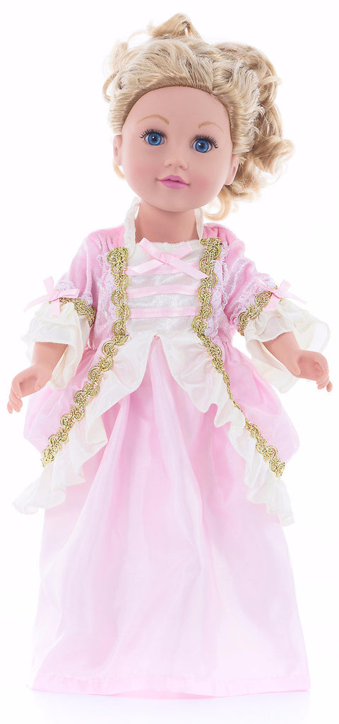 Little Adventures Pink Parisian Princess Doll Dress