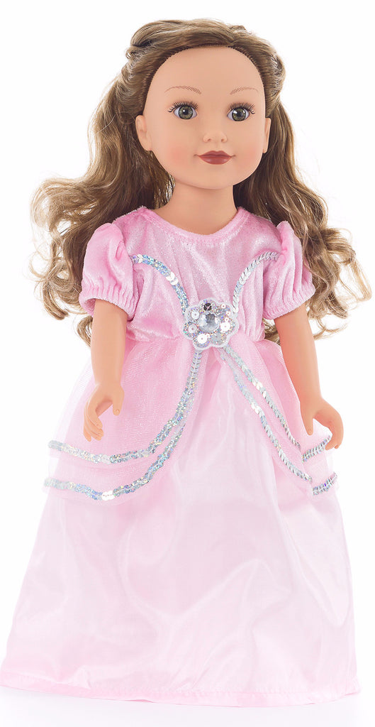 Little Adventures Royal Pink Princess Doll Dress