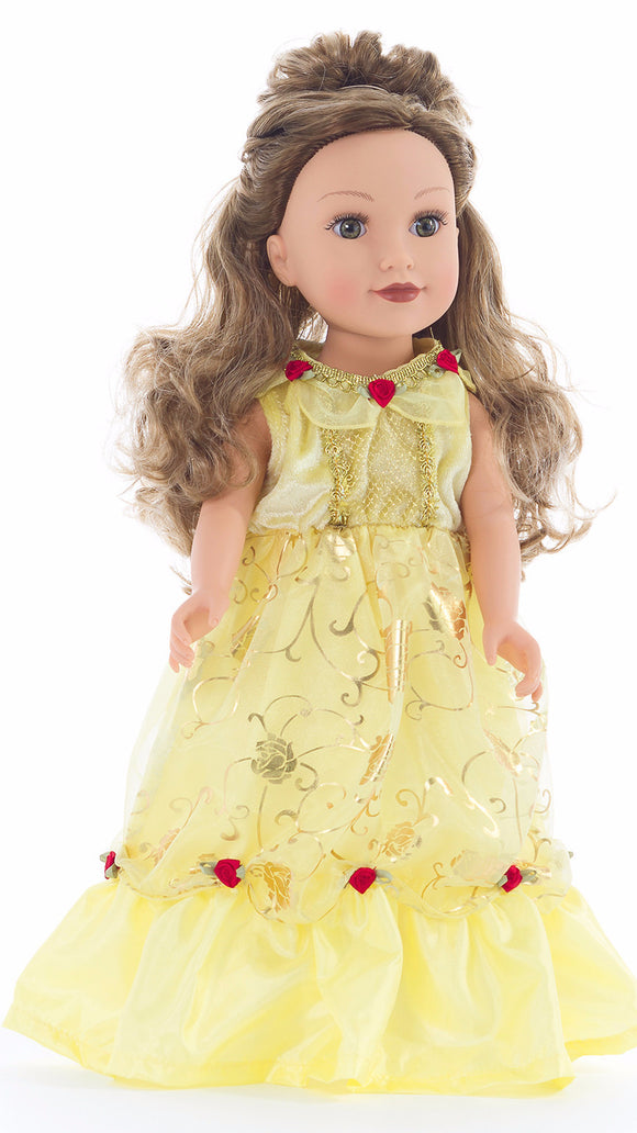 Little Adventures Yellow Beauty Doll Dress