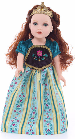 Little Adventures Scandinavian Princess Coronation Doll Dress