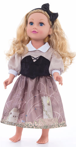 Little Adventures Sleeping Beauty Doll Day Dress with Headband
