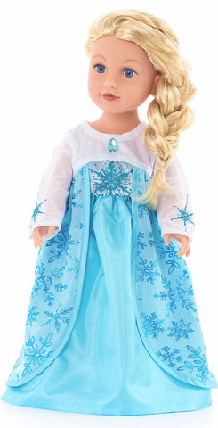 Little Adventures Ice Princess Doll Dress (2017)