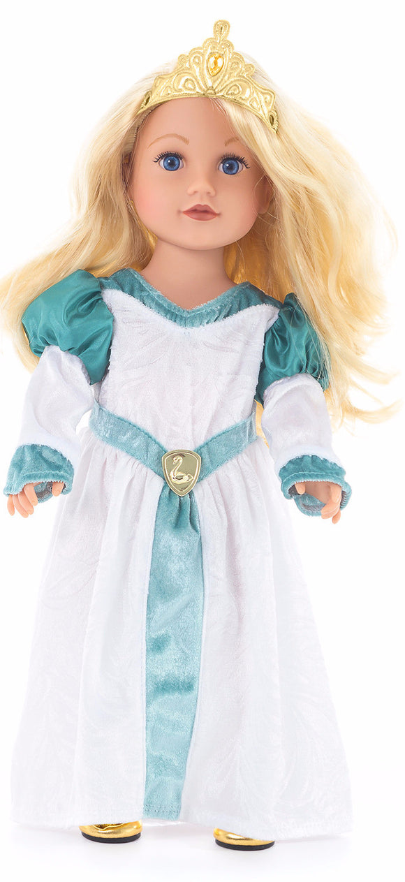 Little Adventures Swan Princess Doll Dress