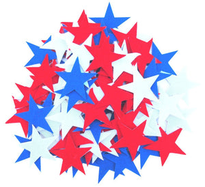 85 pc Red, White & Blue Sticky Back Felt Stars