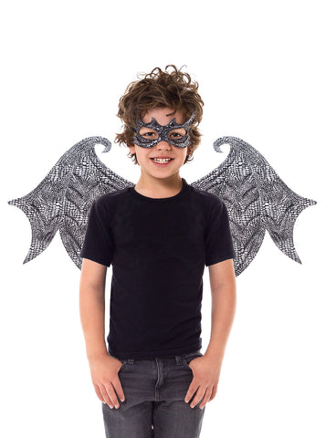 Little Adventures Black Dragon Wings & Mask Set
