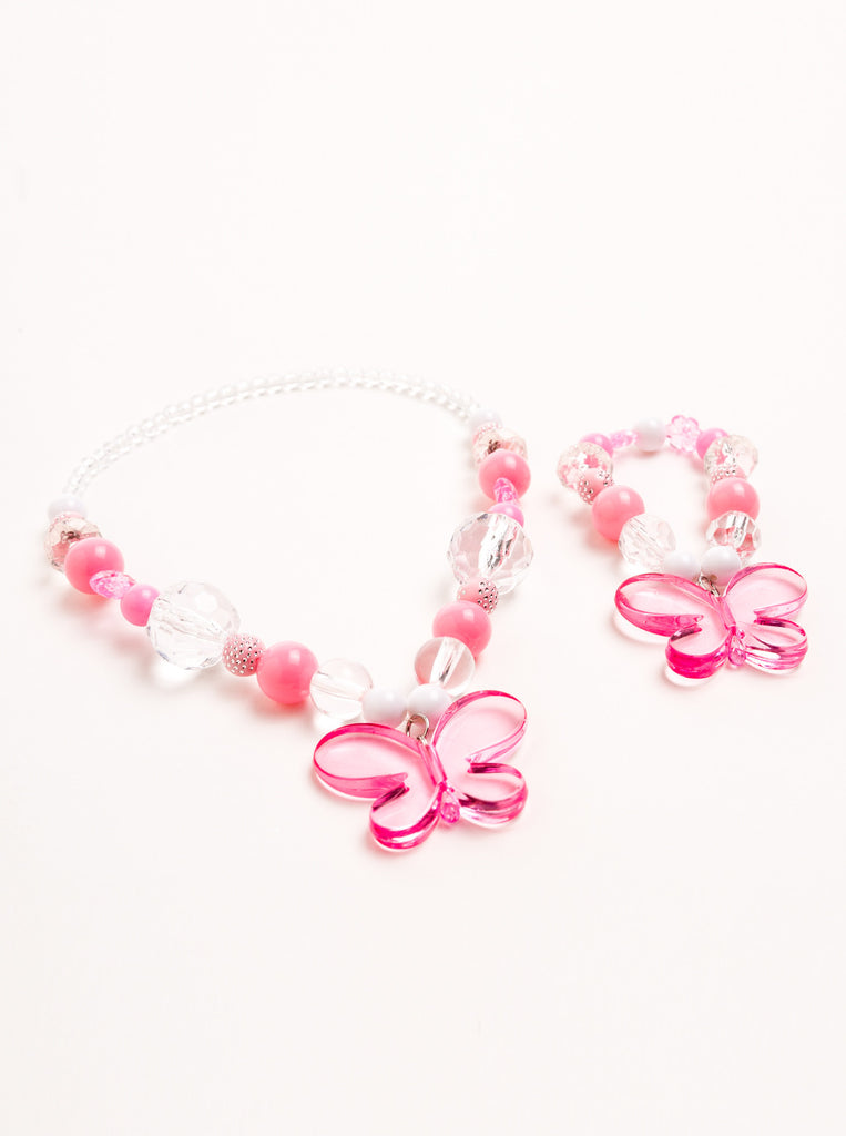 Little Adventures Pink Crystal Chunky Jewelry Set