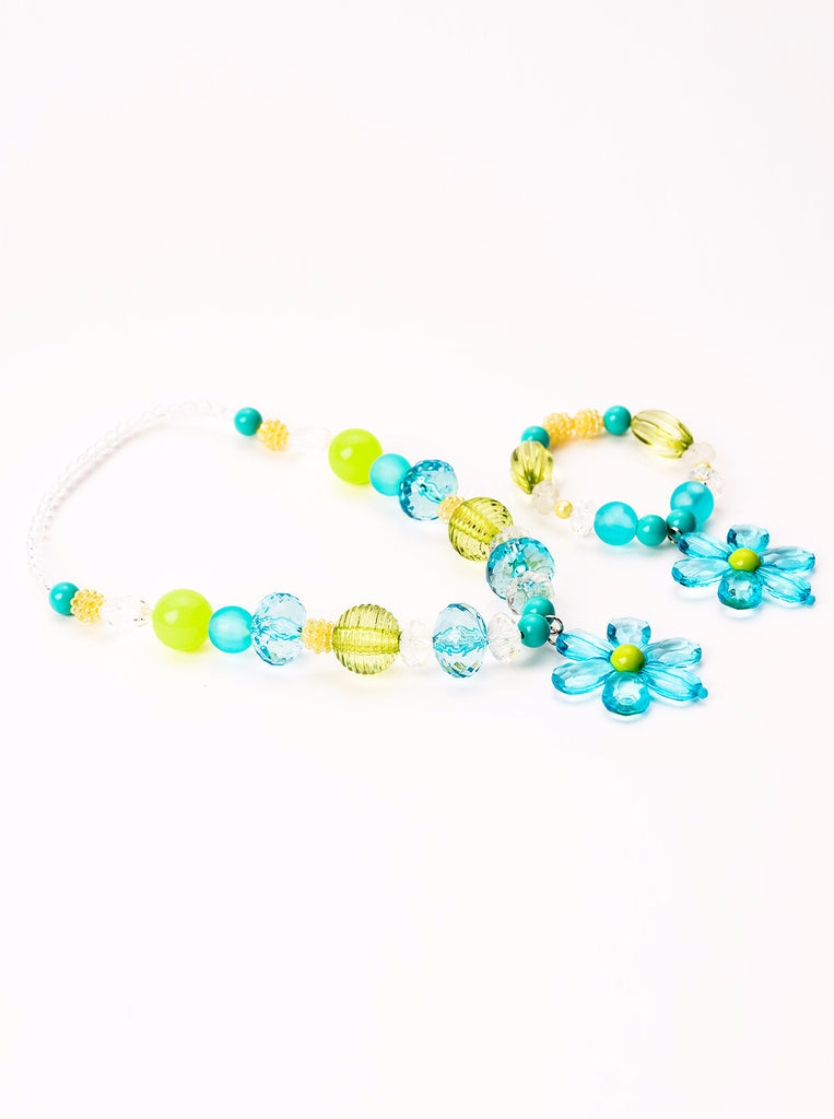Little Adventures Teal & Lime Chunky Jewelry Set