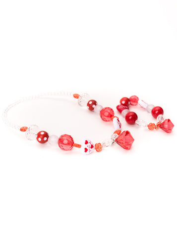 Little Adventures Red & White Chunky Jewelry Set
