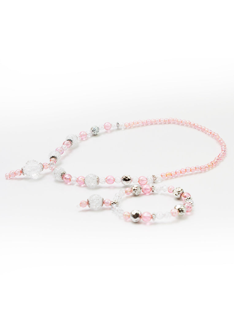 Little Adventures Pink & Silver Sleeping Beauty Princess Jewelry Set