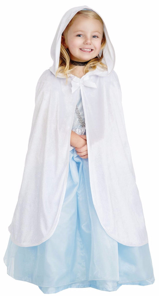 Little Adventures 15053 Hooded White Velvet Cloak Dressup Age 3-5 with Hairbow