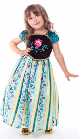Little Adventures Scandinavian Princess Coronation Dress with Hairbow