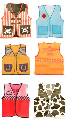 Kids Dressup Set #2 with 7 Non Woven Costume Vests