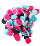 Black, Pink, Turquoise, White Felt Circles Color Set (3/4 to 5 inch)