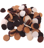 Brown, Camel, Cocoa, Cream Felt Circles Color Set (3/4 to 5 inch)
