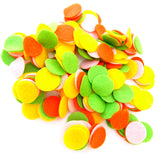 Light Green, Light Pink, Orange, Yellow Felt Circles Color Set (3/4 to 5 inch)