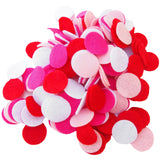 Pink, Light Pink, Red, White Felt Circles Color Set (3/4 to 5 inch)