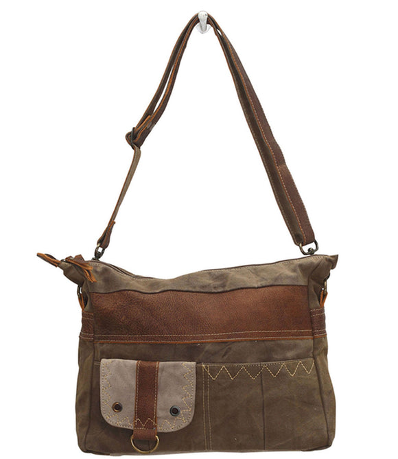Myra Bag Perfection Up-cycled Canvas Shoulder Bag S-0703