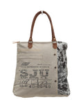 Myra Bag Segmented Life Up-cycled Canvas Tote S-0705